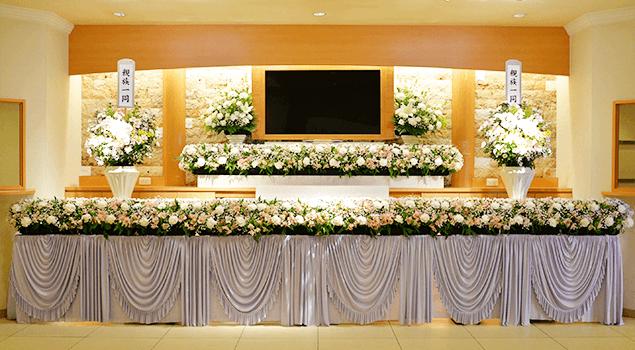 家族葬120プラン祭壇1