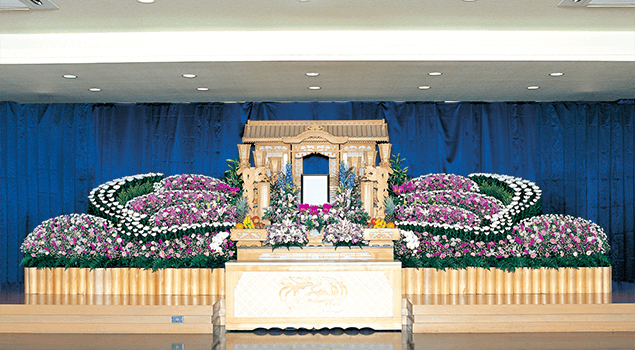家族葬150プラン祭壇1