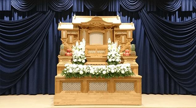 家族葬60プラン祭壇1
