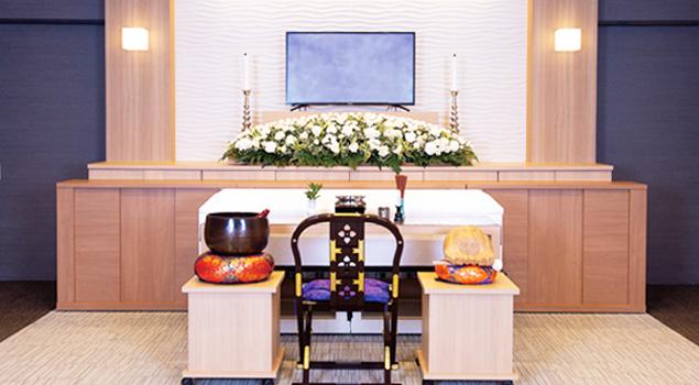 家族葬のらくおう・セレモニーハウス家族葬60プラン祭壇