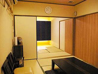 長岡京ホールご親族様控え室