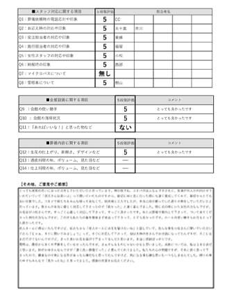 2020603長岡京市 I様 直葬のアンケート