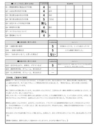 2020905宝塚市 M様 火葬式のアンケート