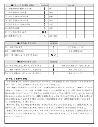 20201021長岡京市 T様 一日葬のアンケート