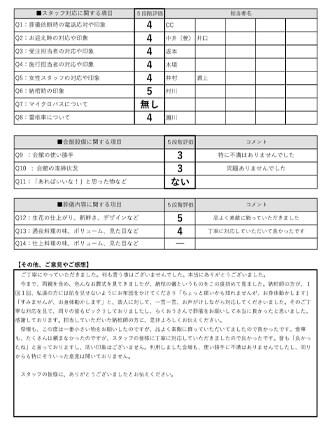 20201116草津市Y様 一日葬のアンケート