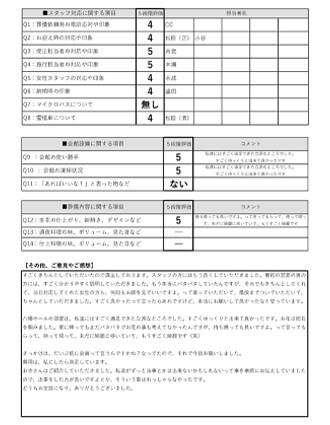 20201126八幡市Y様 火葬式のアンケート