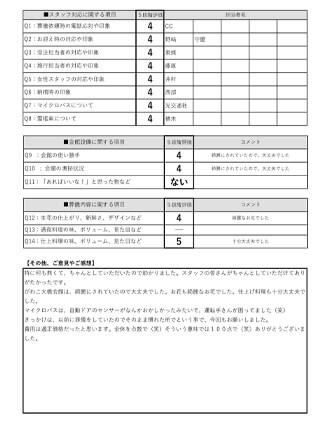 20210208大津市H様 火葬式のアンケート