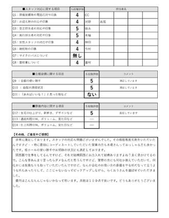 20210225京都市M様 火葬式・直葬のアンケート