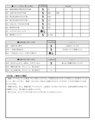 20210309京都市M様 家族葬のアンケート
