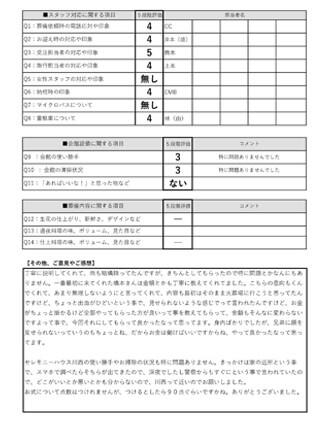 20210529川西市A様 火葬式・直葬のアンケート