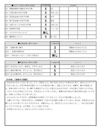 20210711尼崎市O様 家族葬のアンケート