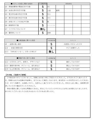 20210804京都市H様 家族葬のアンケート