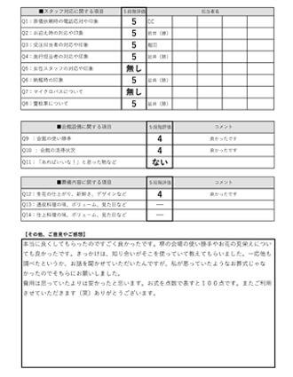 20210816堺市M様 火葬式・直葬のアンケート