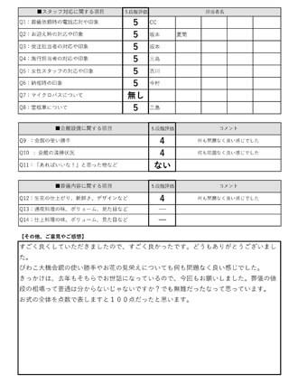 20211001大津H様 火葬式・直葬のアンケート